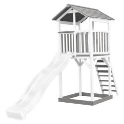Beach Tower Speeltoren Grijs/wit - Witte Glijbaan