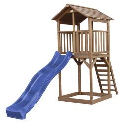 Beach Tower Speeltoren Bruin - Blauwe Glijbaan