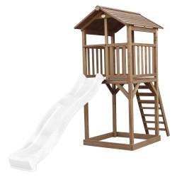 Beach Tower Brown - White Slide
