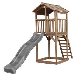 Beach Tower Speeltoren Bruin - Grijze Glijbaan