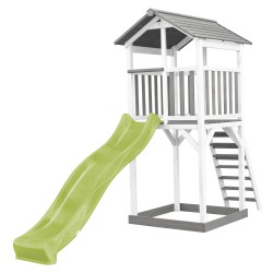 Beach Tower Grey/white - Green Slide