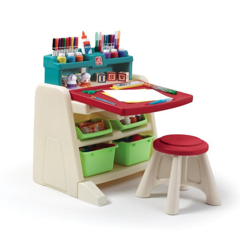 Flip Doodle Easel Desk With Stool Pragma Bv