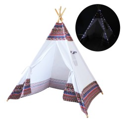 LED Tipi Tent Multikleur/wit