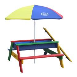 Nick Zand & Water Picknicktafel Regenboog - Parasol Regenboog