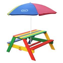 Nick Picknicktafel Regenboog - Parasol Regenboog