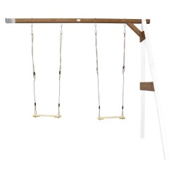 Double Swing Wall Mount White/brown