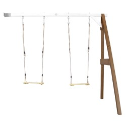 Double Swing Wall Mount Brown/white