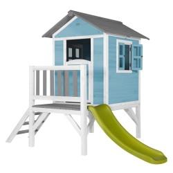Speelhuis Lodge XL (blauw-wit)