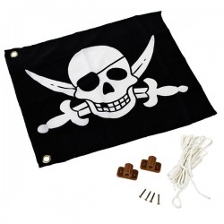 Flag with lift system (pirate)