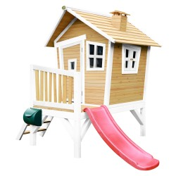 Robin Playhouse Brown/white - Red slide