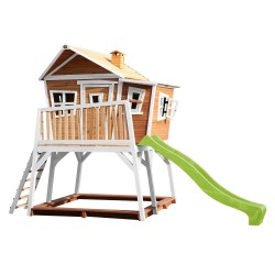 Max Playhouse Brown/white - Lime green slide