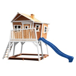 Max Playhouse Brown/white - Blue slide