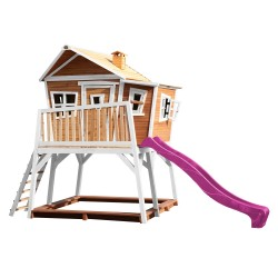 Max Playhouse Brown/white - Purple slide