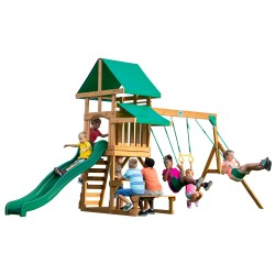 Belmont Play Tower with Swings and Slide