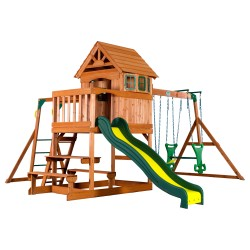Springboro Play Tower with Swings and Slide