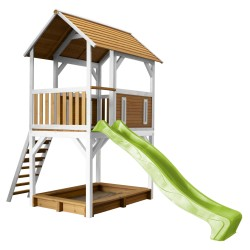 Pumba Play Tower Brown/white - Lime green slide
