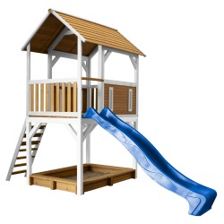 Pumba Play Tower Brown/white - Blue slide