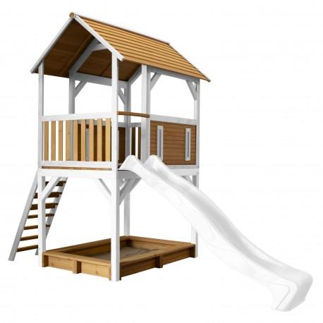 Pumba Play Tower Brown/white - White slide