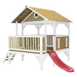 Meeko Playhouse Brown/white - Red slide