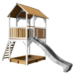 Pumba Play Tower Brown/white - Grey slide