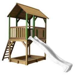 Pumba Play Tower Brown/green - White Slide
