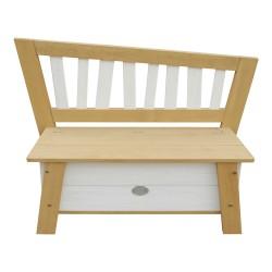 Storage Bench Corky Brown/white