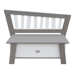 Storage Bench Corky Grey/white