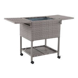 Outdoor Cooler Rattan Brown