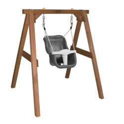 Baby Swing Brown with seat Grey/white
