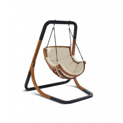 Capri Single Swing Chair Beige