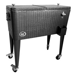 Outdoor Cooler Rattan Black