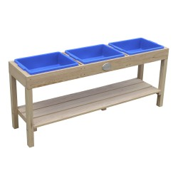 Activities Table with 3 bins Natural Brown