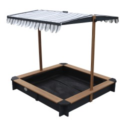 Lily Sandbox with Canopy Anthracite/brown