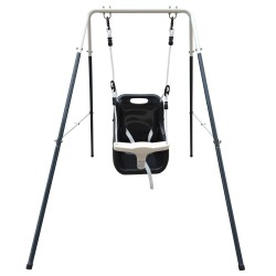 Metal Baby Swing with seat Anthracite/cream