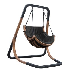 Capri Single Swing Chair Black