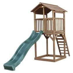 Beach Tower Speeltoren Bruin - Groene Glijbaan