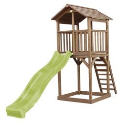 Beach Tower Brown - Lime green Slide