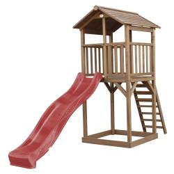 Beach Tower Speeltoren Bruin - Rode Glijbaan