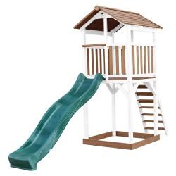 Beach Tower Brown/white - Green Slide