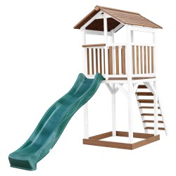 Beach Tower Speeltoren Bruin/wit - Groene Glijbaan