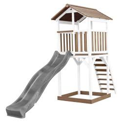Beach Tower Speeltoren Bruin/wit - Grijze Glijbaan