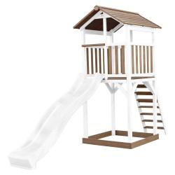 Beach Tower Brown/white - White Slide