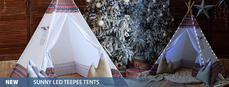 Sunny LED Teepee Tents